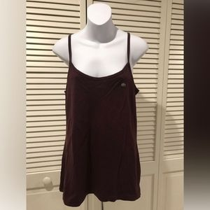 Lacoste Womens Burgundy Tank Top